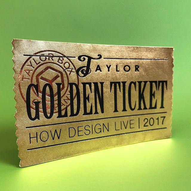 foil stamping, golden ticket, gold, letterpress, deboss