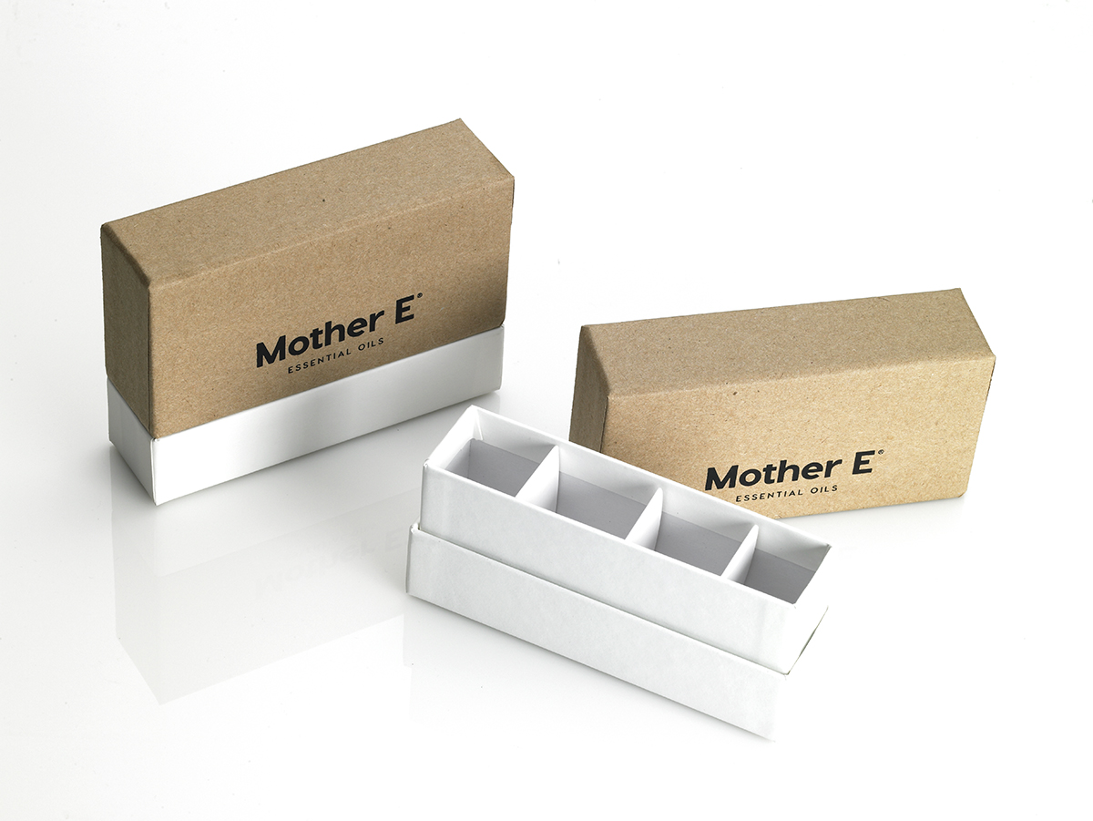 custome ecommerce packaging, box, essential oils, base and lid
